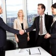 Stock Photo: Business handshake over deal