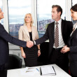 Business handshake over the deal — Foto Stock