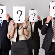 Group of unidentifiable business — Stock Photo