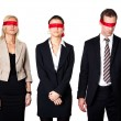 Group of disoriented businesspeople — Stock Photo #4804977