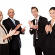 Four business applauding — Stock Photo