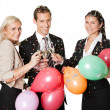 Stock Photo: Business team selebrating success