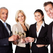 Business team celebrating success — Stock Photo #4805036