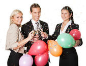 Business team selebrating success — Stockfoto