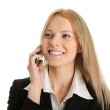 Businesswoman talking on mobile phone — Stock Photo #4845183