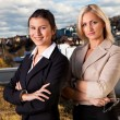Two confident businesswomen ouside — Stock Photo #4874190