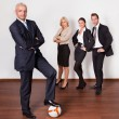 squadra forte business competitivo — Foto Stock