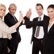 Business high five — Stock Photo #4899279