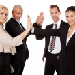 Stock Photo: Business high five