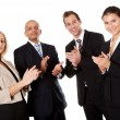 Four business applauding — Stock Photo #4899318