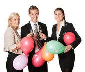 Business team selebrating success — Stock Photo