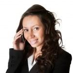Businesswoman talking on mobile phone — Stock Photo #5028750