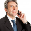 Senior business man talking on cellphone — Stock Photo #5180019