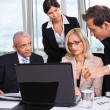 Business team at the meeting — Stock Photo #5243771