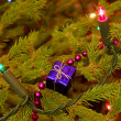 Christmas tree decorated — Stockfoto