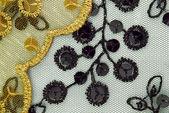 チュール スパンコール刺繍テクスチャ付き — ストック写真