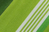 Green striped fabric texture — Stock Photo