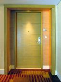 Porte de chambre d'hôtel — Photo