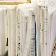 File Stack and blueprints — Stock Photo