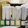 File Stack and blueprints — Stock Photo #4484592