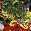Flowers decorate float — Foto de Stock