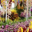 Flowers decorate float - Stockfoto
