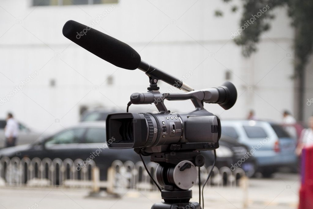 Video camera for news tv broadcasting  — Stock Photo #4484342