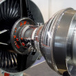 the engine of airplane — Stock Photo