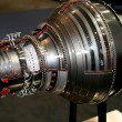 Stock Photo: The engine of airplane