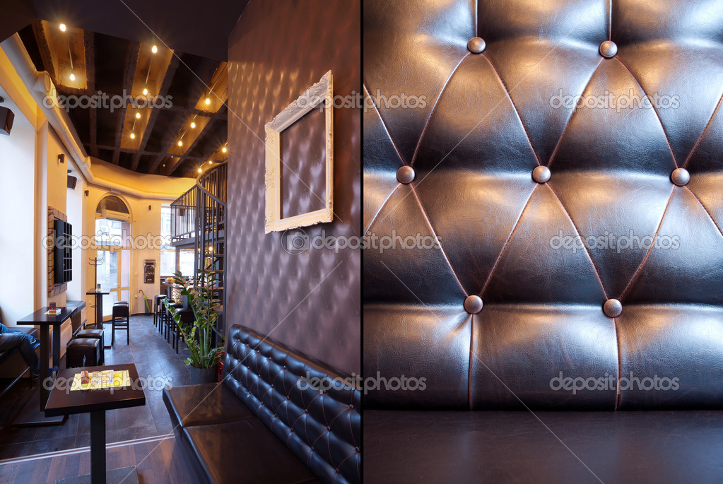 Interior of a pub with furniture during day. — Stock Photo #5106600