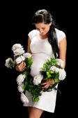 Ciąży z różami — Zdjęcie stockowe