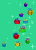 Pola prezenty i gwiazdy — Wektor stockowy