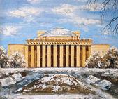 Opera and ballet theatre, Novosibirsk — Stock Photo