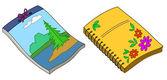 Notebooks — Stock Vector