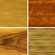 Wood, veneer: anegri, makore, teak, zebrano — Stock Photo