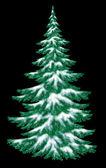 Рождественская елка под снегом — Стоковое фото