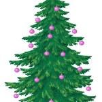 Christmas tree with glass balls — Stock Photo