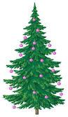 Cam topları ile Noel ağacı — Stok fotoğraf