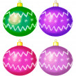 Stock Photo: Christmas balls, isolated, set
