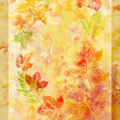 Stock Photo: Abstract background, watercolor: leafs