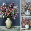 Flowers, lilac in a vases - Stock fotografie