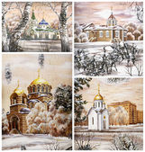 Russia, Novosibirsk, churchs — Stock Photo