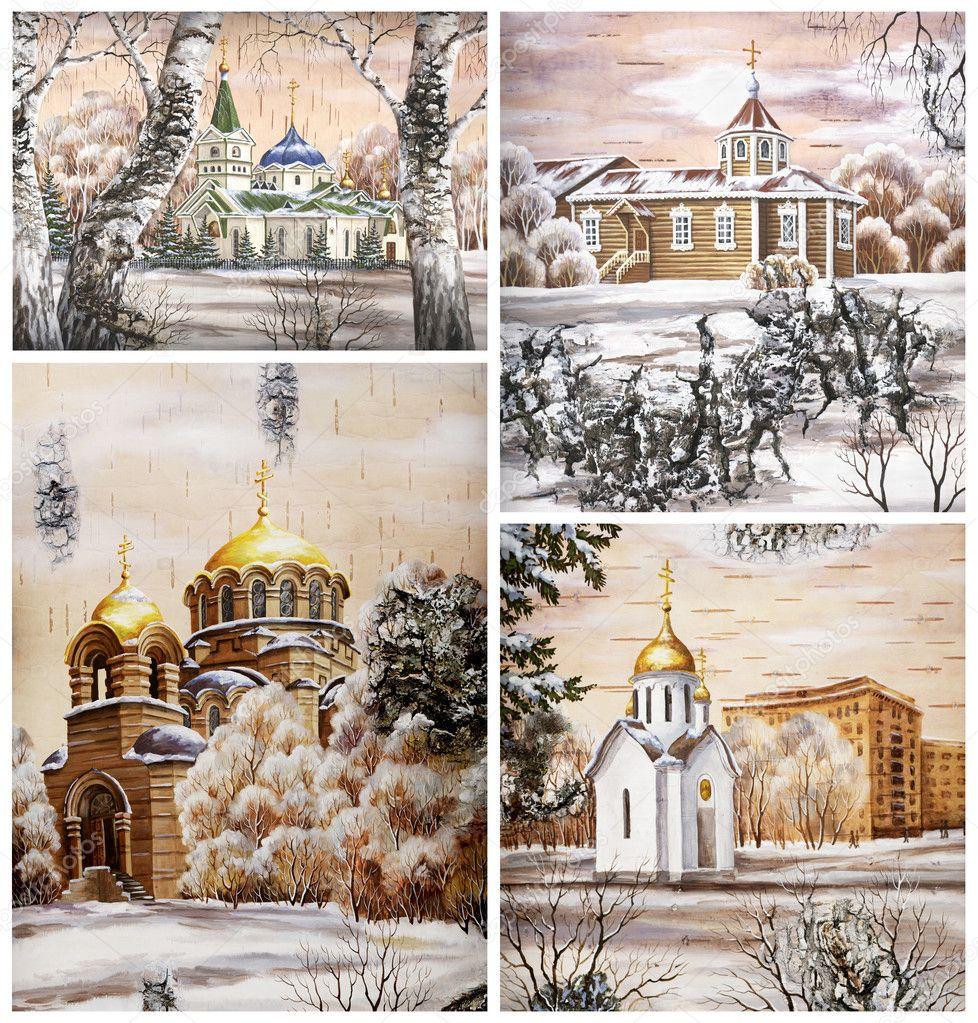 Russia novosibirsk churchs stock image