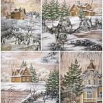 Постер, плакат: Siberian buildings