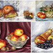Stock Photo: Picture, fruits, set