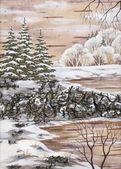 Paisagem do inverno siberiano — Foto Stock