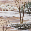 Winter Siberian landscape - Stockfoto