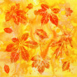 Abstract background, watercolor: leafs - Stockfoto