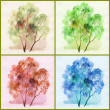 Water colour, trees — Stock Photo