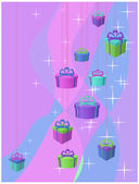 Stars and gifts — Stock Vector